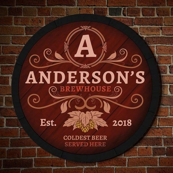 Personalized Brewhouse Sign