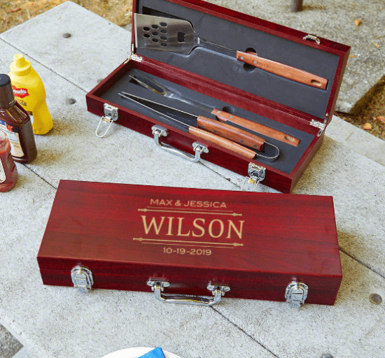 Personalized Grilling Tools with Case