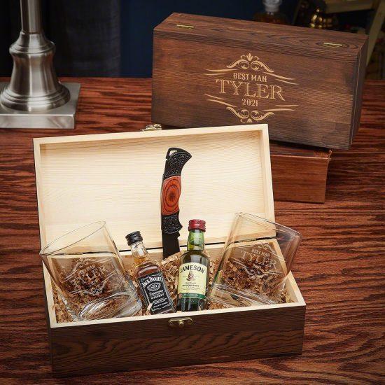 Engraved Cocktail Gift Box Set for Husbands