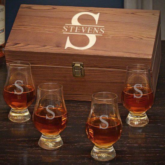 Engraved Glencairn Glass Box Set