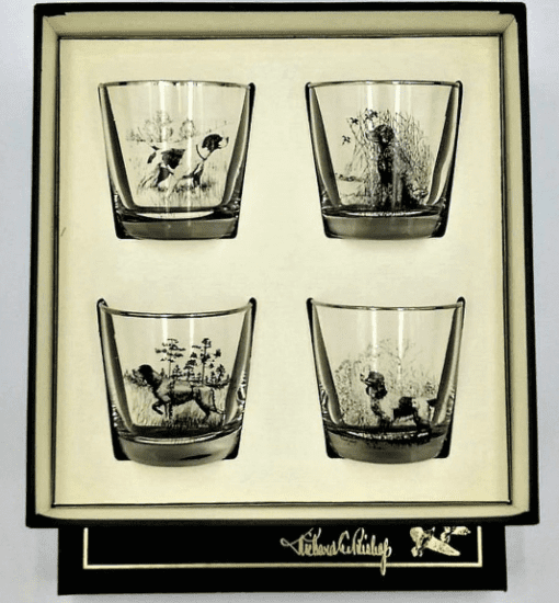 Cocktail Glass with Dog Glasses
