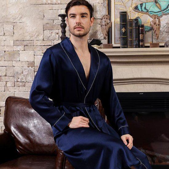 Blue Silk Robe Last Minute Anniversary Gifts