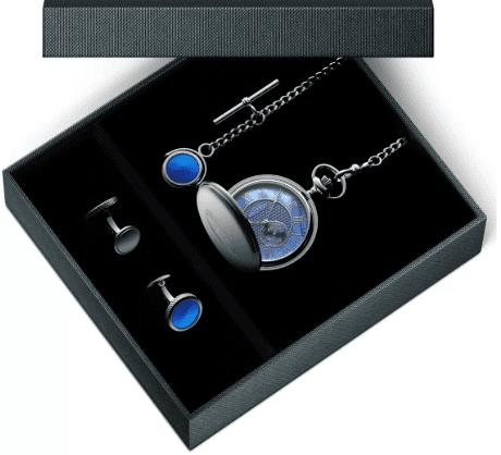 Pocket Watch and Cufflinks Gift Set