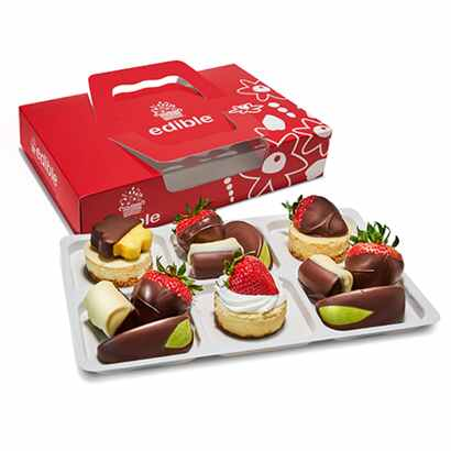 Edible Arrangements Chocolate Dipped Fruits and Cheesecake