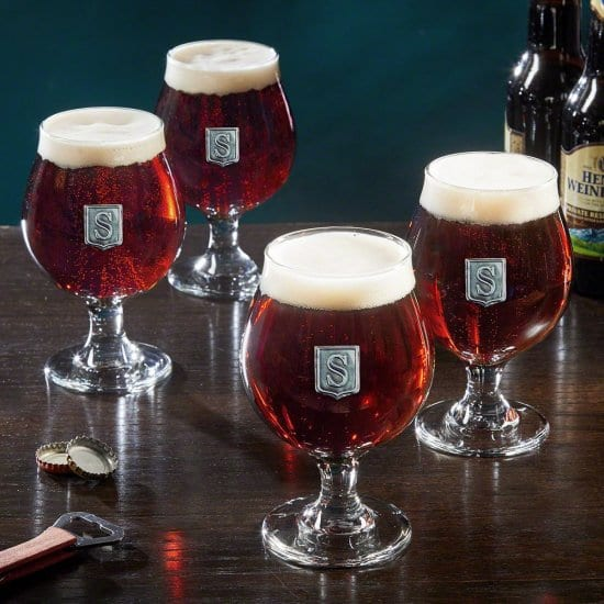 Crested Beer Glasses are Gifts for Millennials