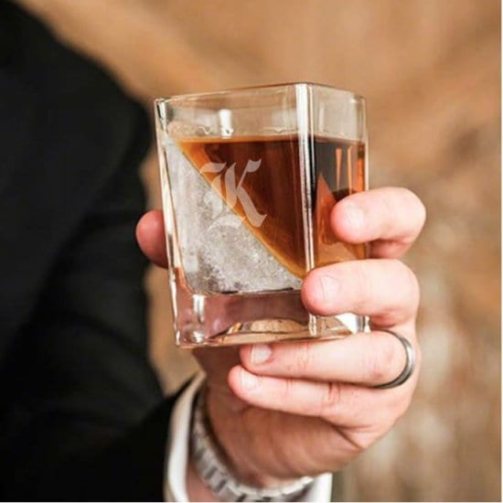 Engravable Whiskey Ice Wedge Glass