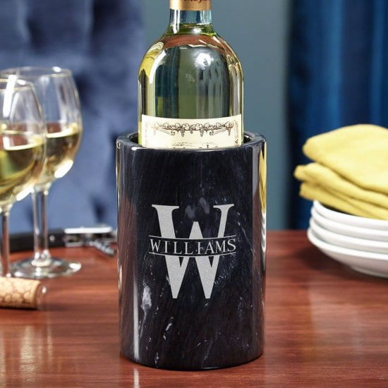 Engraved Marble Wine Chiller