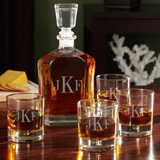 Monogrammed Whiskey Decanter Set is a Top 10 Gifts for Men