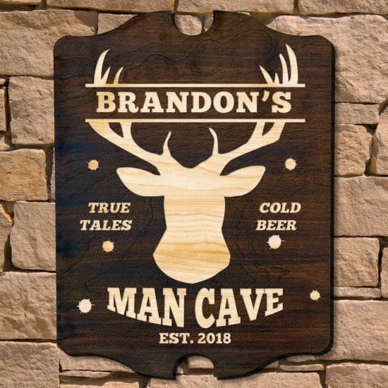 Personalized Wooden Man Cave Hunting Sign