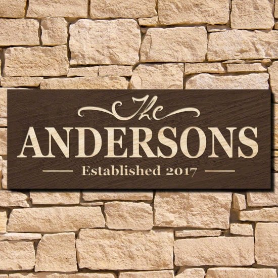 Personalized Wood Home Sign