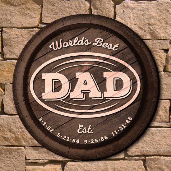 Custom Dad Wall Sign