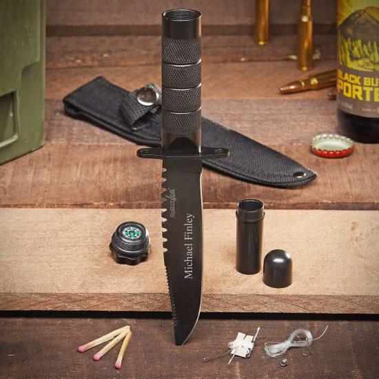 Engraved Survival Knife