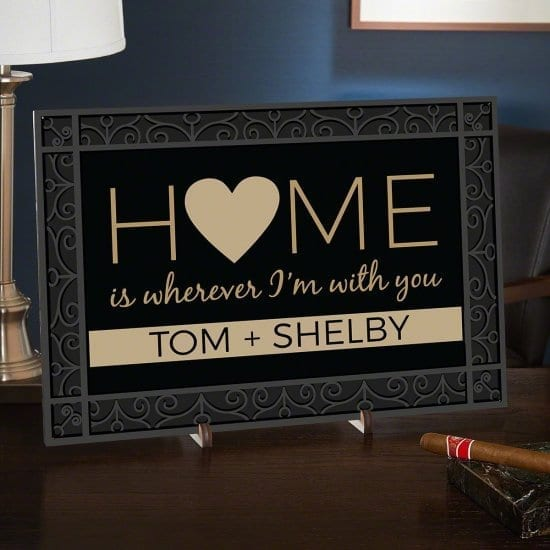 Cute Personalized Wood Home Sign