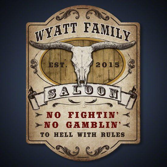 Custom Western Wooden Bar Sign