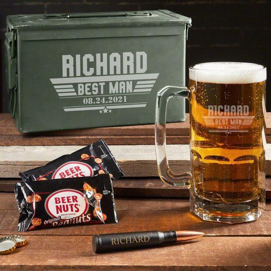 Custom Ammo Box Set with Giant Beer Mug