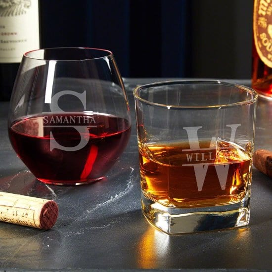 The Best Anniversary Gifts are His and Hers Personalized Glasses