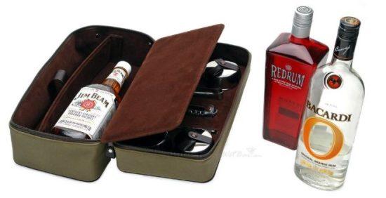 Leather DOPP Travel Bar Set