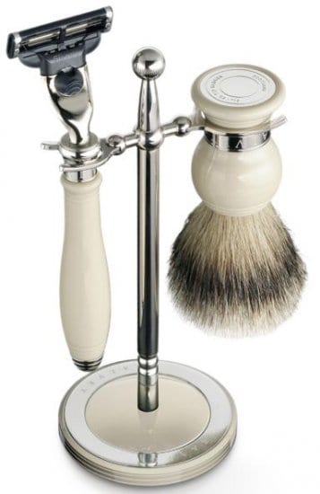 Classic Ivory Shaving Stand Birthday Gift for Dad