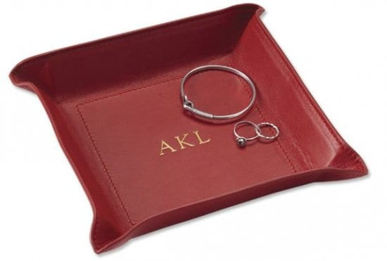 Leather Catch All Tray Leather Gifts