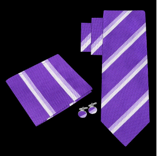 Tie Gift Set with Pocket Square and Cufflinks