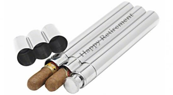 Stainless Steel Flask and Cigar Tube
