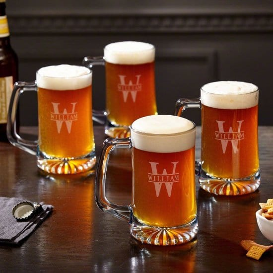 Personalized Set of Beer Mugs