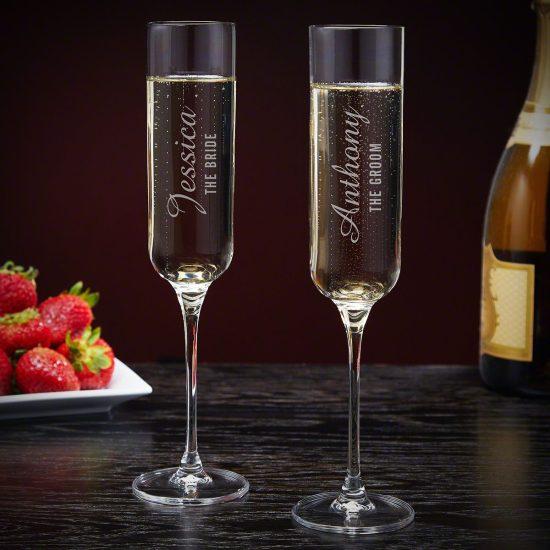 Personalized Wedding Wine Glass Champagne Set