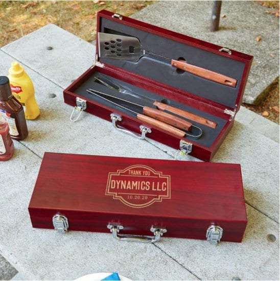 Engraved Grilling Tools Client Gifts