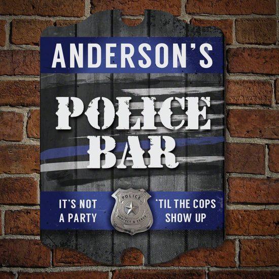 Custom Police Bar Sign
