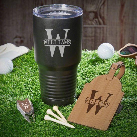 Golf Gift Set and Tumbler Retirement Gift Set