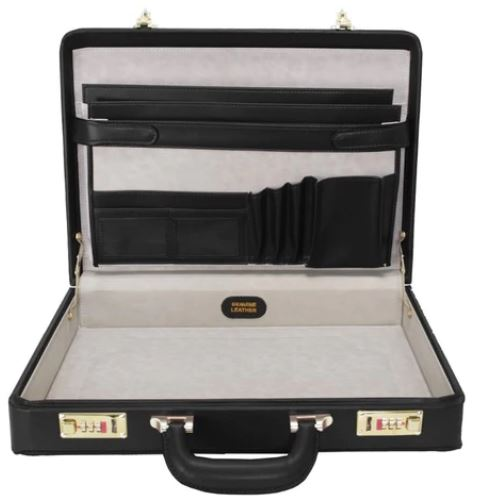 Leather Attache Case is Office Gifts for Him