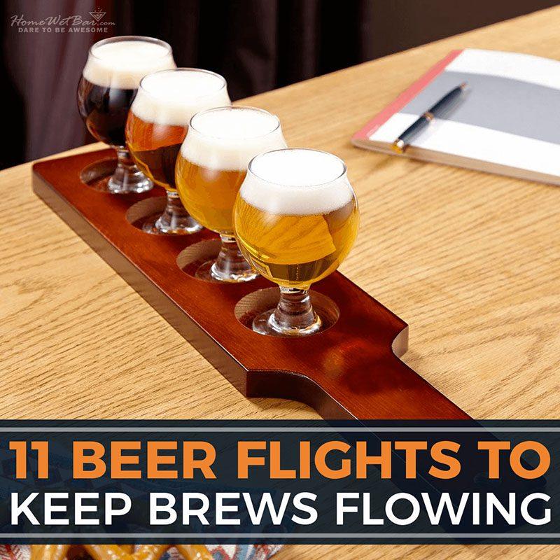 11 Beer Flights to Keep Brews Flowing