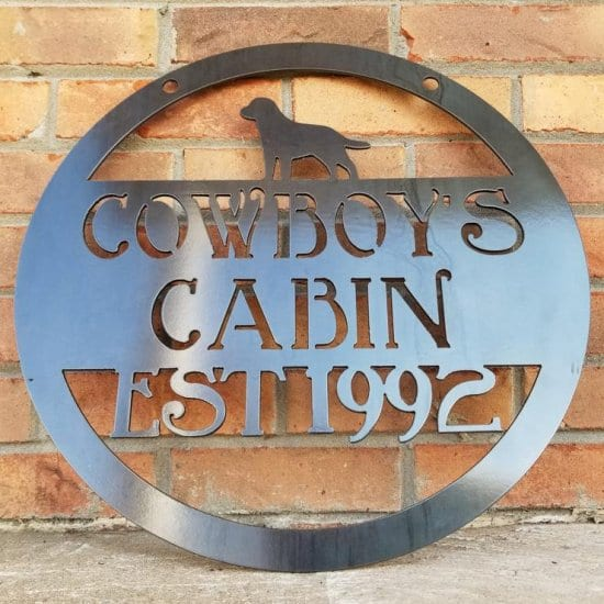 Metal Sign for Man Cave