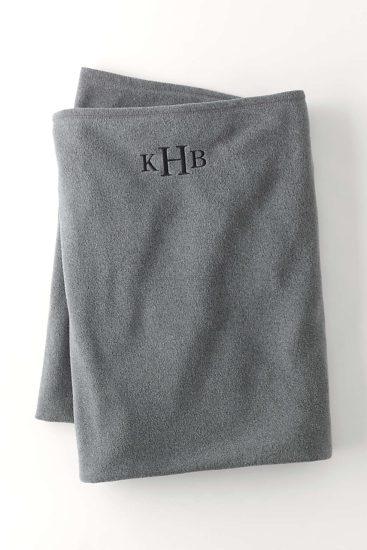 Monogrammed Fleece Blanket