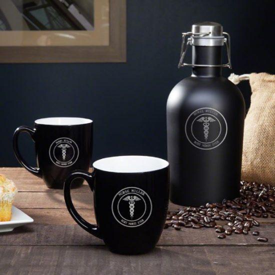 Customized Coffee Mug and Carafe Set