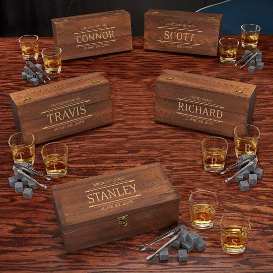 Personalized Whiskey Stone Gift Sets for the Office