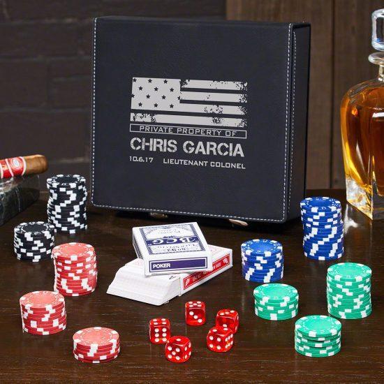 Poker Set of Navy Retirement Gifts