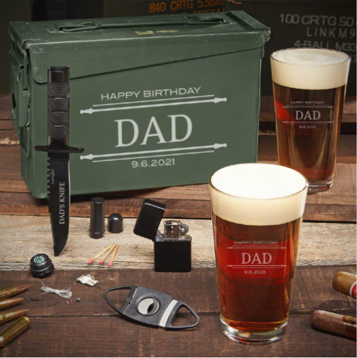 Custom Ammo Can Beer Birthday Gifts for Dad
