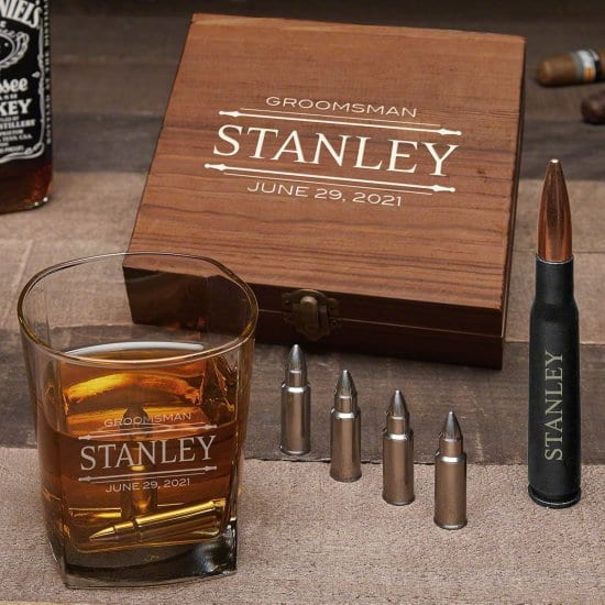 Bullet Whiskey Stone Cool Guy Gift