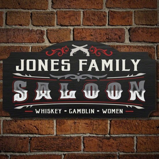 Western Themed Man Cave Sign