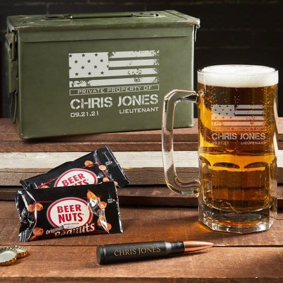 Ammo Can Beer Mug Set of Navy Retirement Gifts
