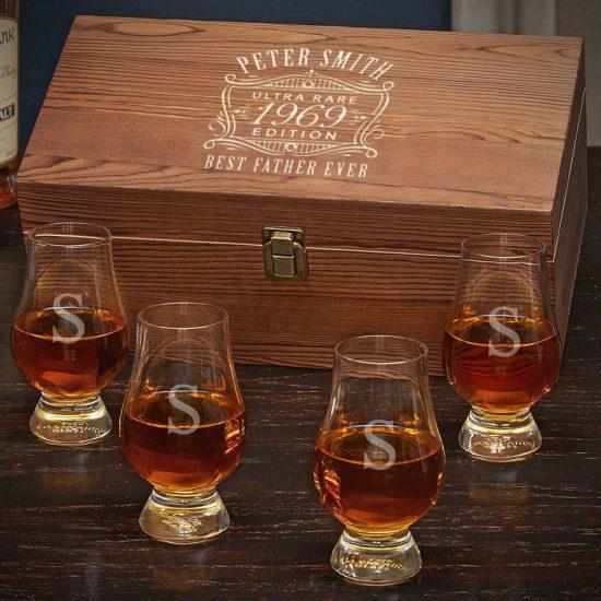 Engraved Glencairn Whiskey Box Set