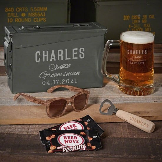 Corporate Gift Ideas is a Beer Mug Ammo Can Set