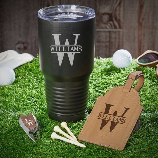 Engraved Golf Coffee Gift with Tumbler