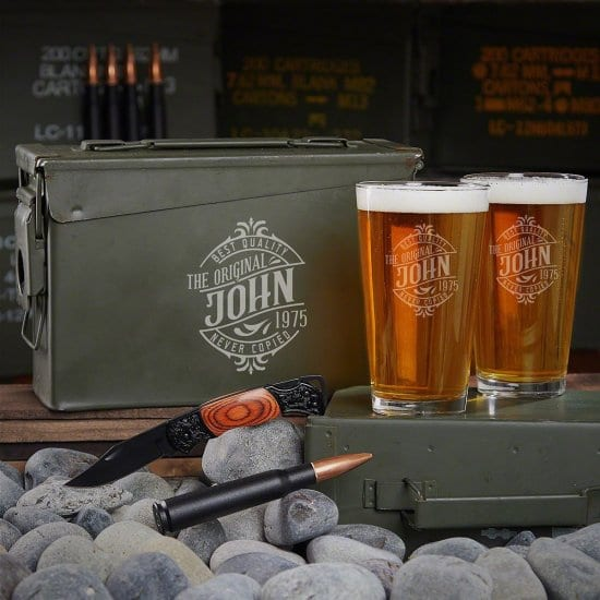 Custom Beer Ammo Can Set with Bottle Opener