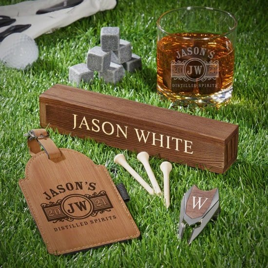 Golf and Whiskey Set of Christmas Gifts Ideas for Brothers