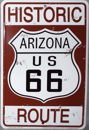 Route 66 Man Cave Signs