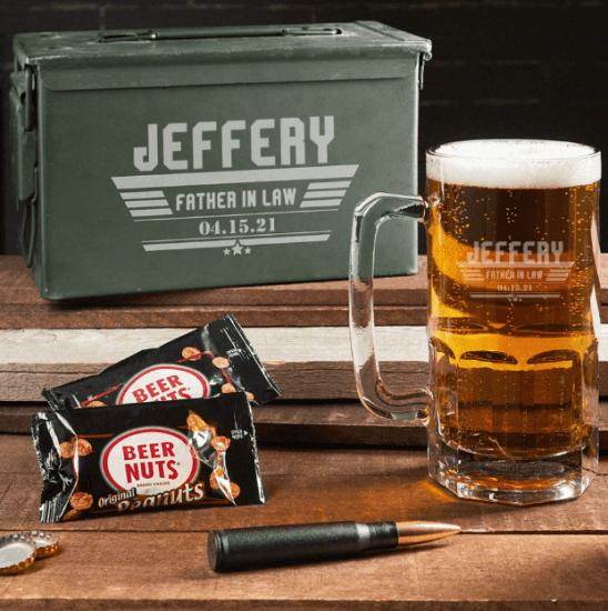 Giant Beer Mug Gift Set with Ammo Can