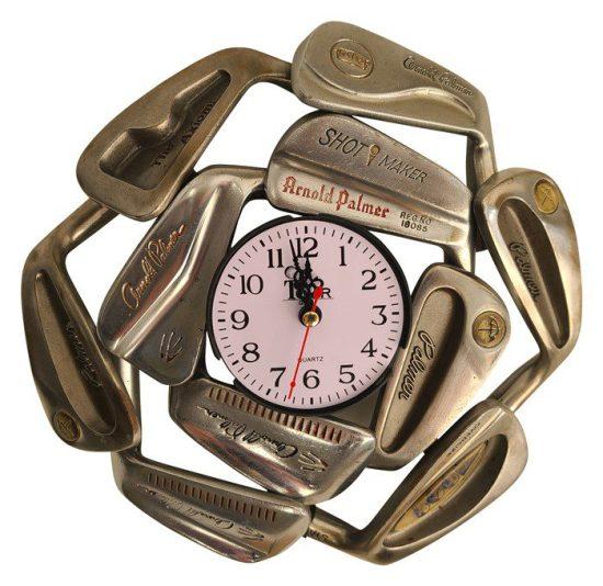 Vintage Iron Golf Club Clock