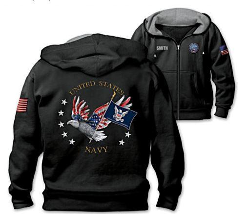 Embossed Navy Retirement Gift Jacket